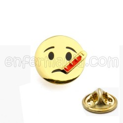 Sick Emoji Pin