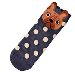 Socks French Bulldog - Blue