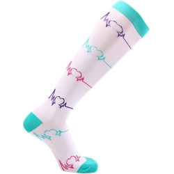 Socks compression - EKG - White