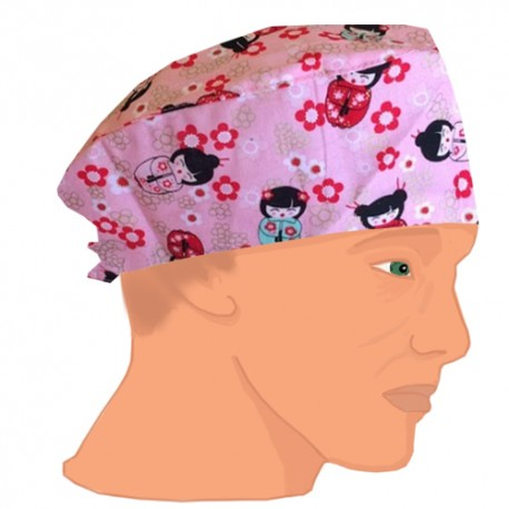 Gorro casquete - Kokeshi  pink