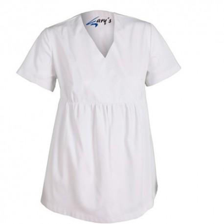 Pregnancy uniform top - White