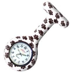 Reloj silicona Enfermania - Huellas B/N