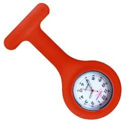 reloj silicona enfermera rojo
