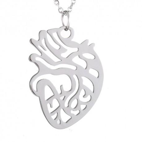 Pendant with chain - Silhouette Heart