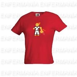 Camiseta mujer - entallada - rojo teja - berrea