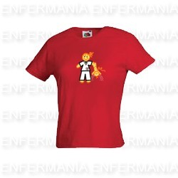 T-shirt women - tailored - red-tile - rut