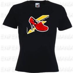 T-shirt damen - tailliert - schwarz - DUE Power