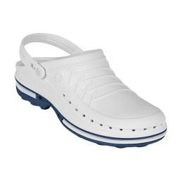 Zuecos Wock Clog - blanco/azul