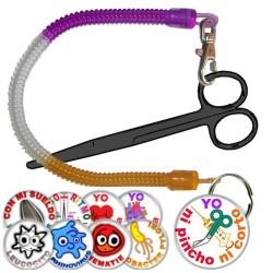 Scissors Holder + Pin Badge
