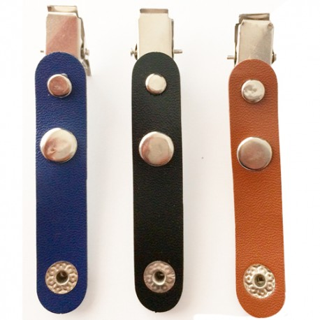Clip card holder ID Leather -