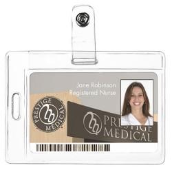 Porta-identificaciones (bidireccional)