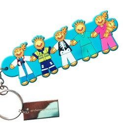 Keyring double sided - Team
