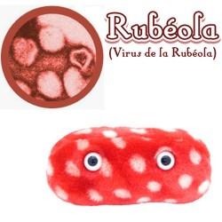 Microbio Gigante de peluche - rubeola