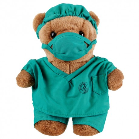 Teddy bear plush - green pijama