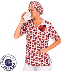 MICROFIBER TOP - LADYBUGS