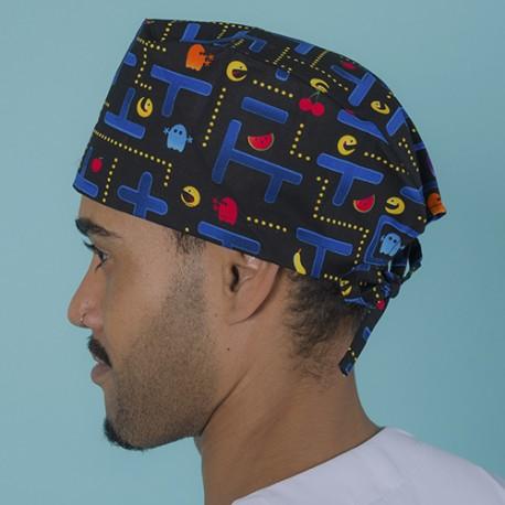 Short hair surgical cap - Pacman