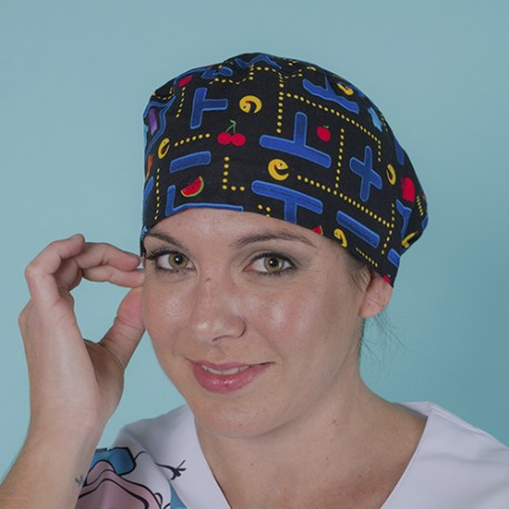 Long hair surgical cap - Pacman