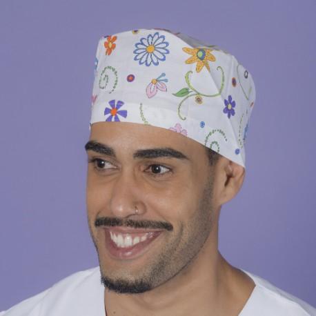 Short hair surgical cap - Garden Pop