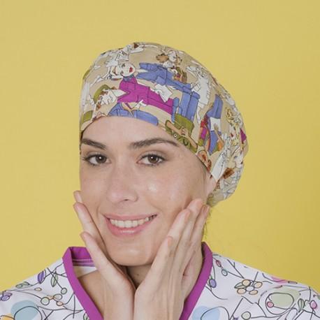 Long hair surgical cap - Staff - Beige