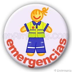 Placa d'emergència - noia