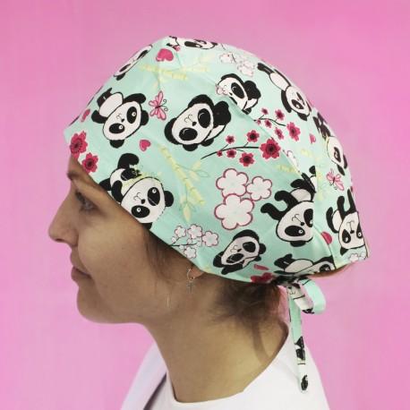 Short Hair Surgical Cap - Panda