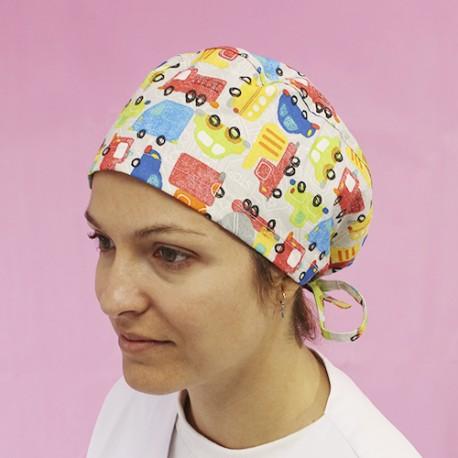 Short Hair Surgical Cap - Traffic