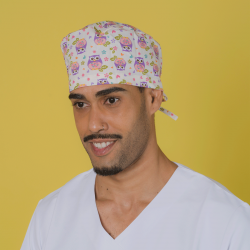 Short hair surgical cap -...