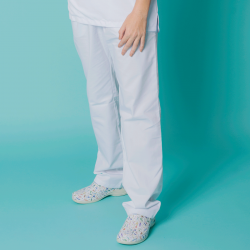 Microfiber Trousers - White