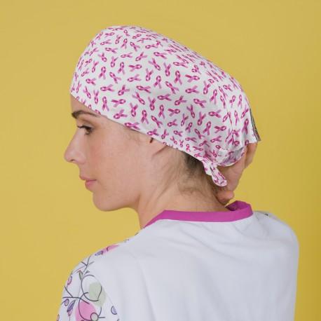 Gorro casquete - Lazos rosas cáncer...