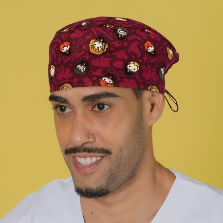 Short hair surgical cap - Dark Red...