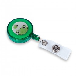 Retractable plastic clip...