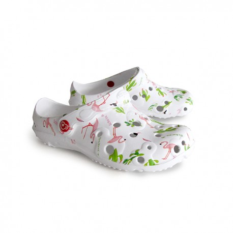Foam Rubber printed Clog Shoes -...