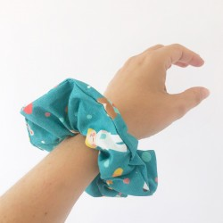 Turquoise Nurse care Scrunchie