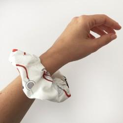 EKG Fabric Scrunchie