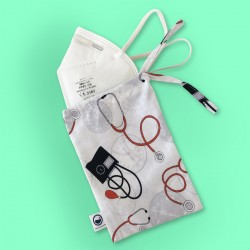 EKG Fabric Porta Masks bag
