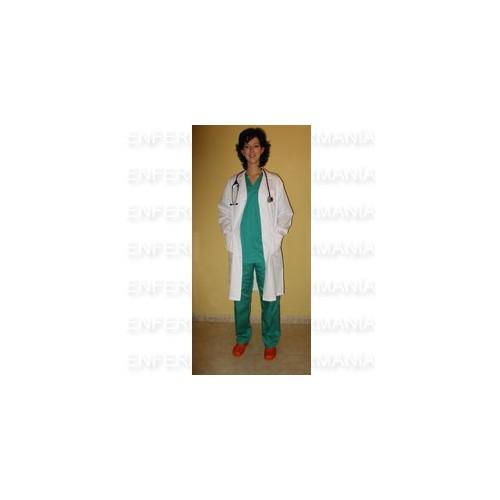 Coat unisex long sleeve - white
