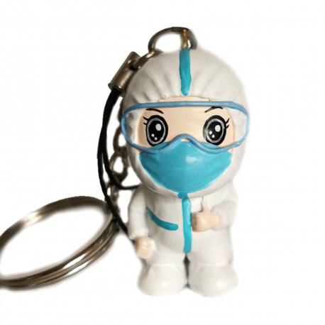 Keyring of nurse with PPE
