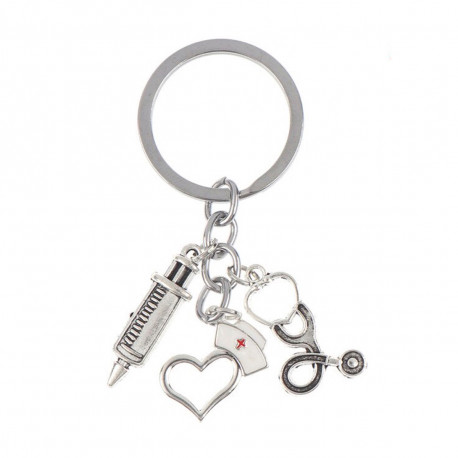 Keyring with nursing charms - syringe