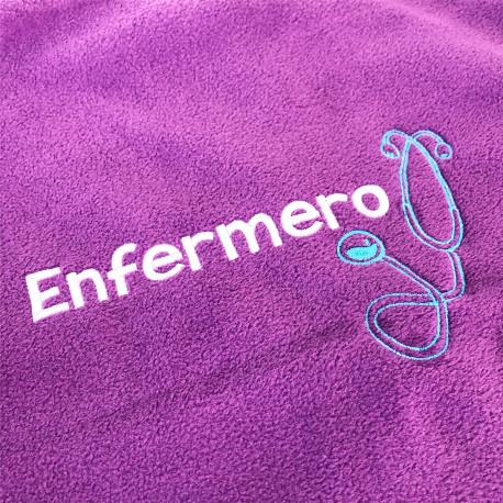 Polar Fleece purplue customized for Men