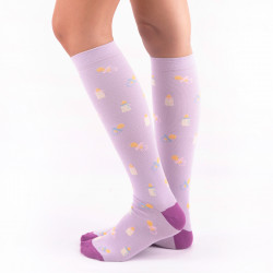 Compresive Printed Socks -...